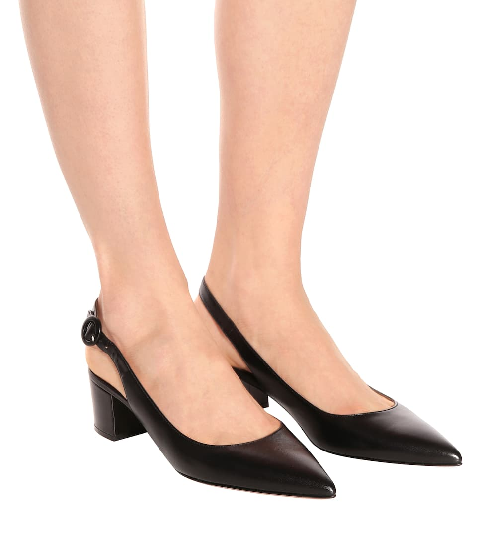 Gianvito Rossi Amee leather slingback pumps M6cgYy