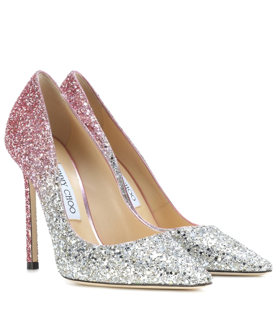 Jimmy Glitter Romy Platinum Pumps 110 Flamingo Choo PwU4qPTR