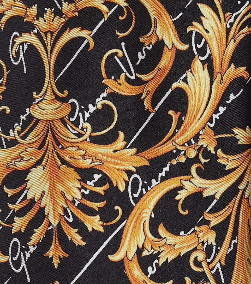 Printed High-Rise Silk Trackpants | Versace - Mytheresa