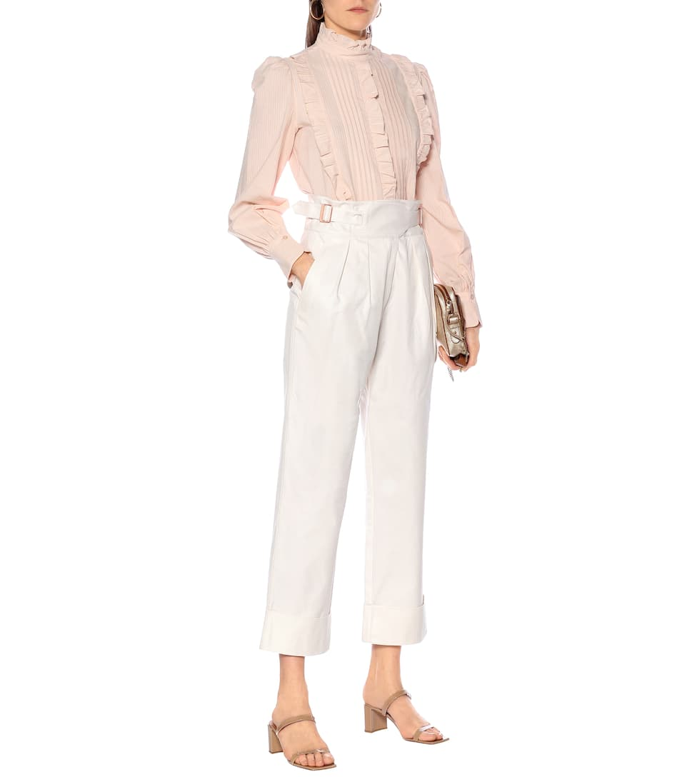 See By Chloé - High-rise cotton cargo pants