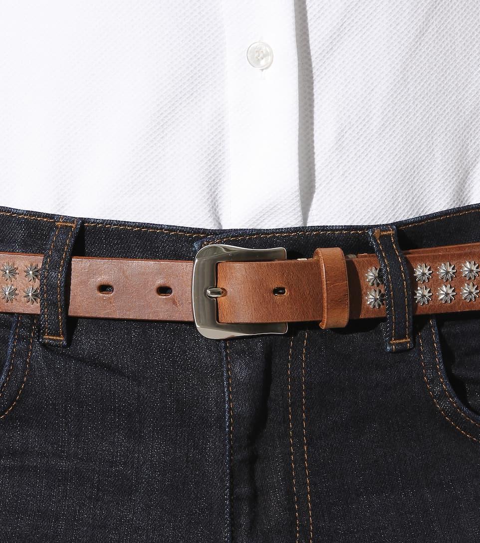 fausto colato studded leather belt mytheresa