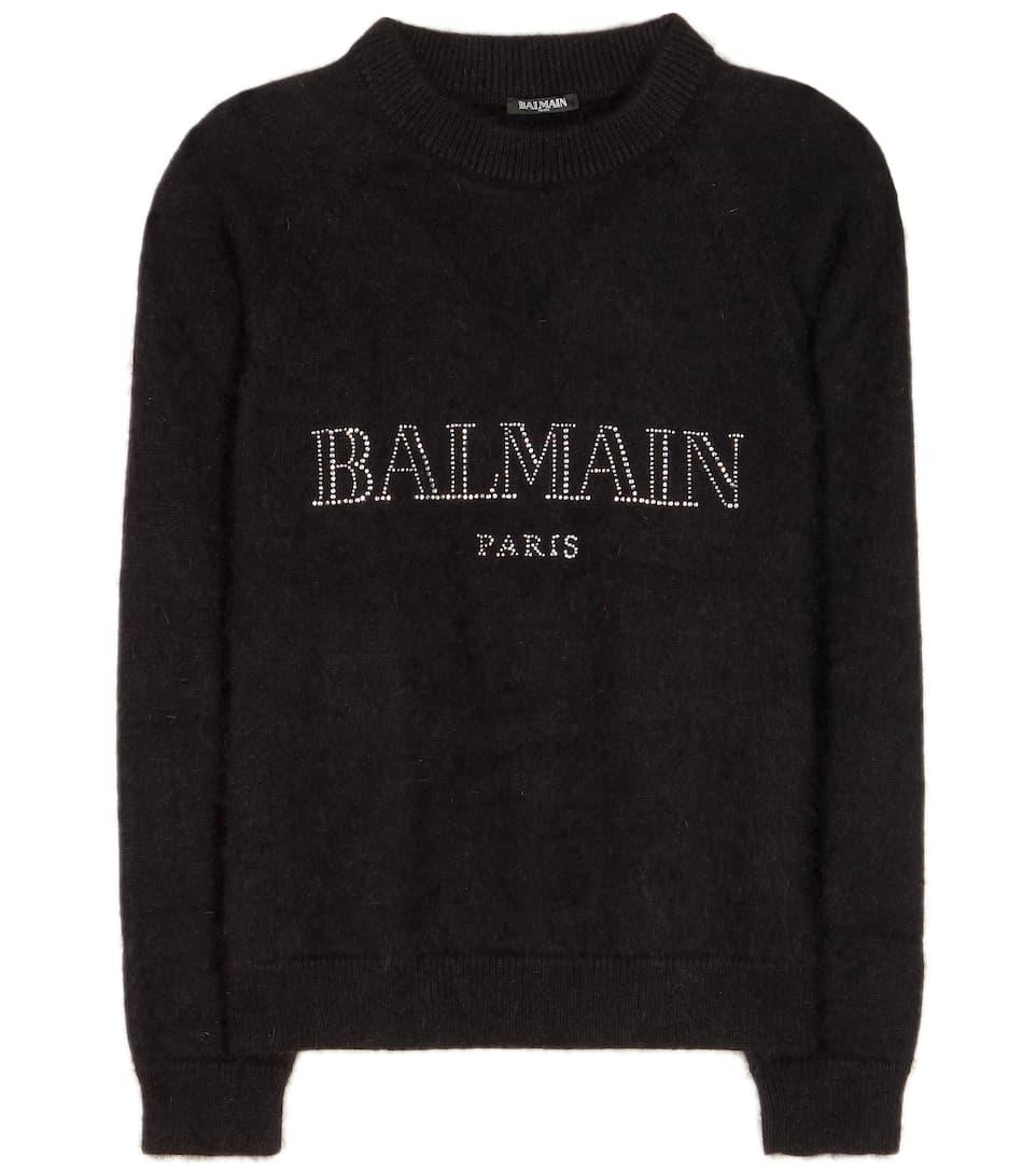Balmain Embellished wool-blend sweater