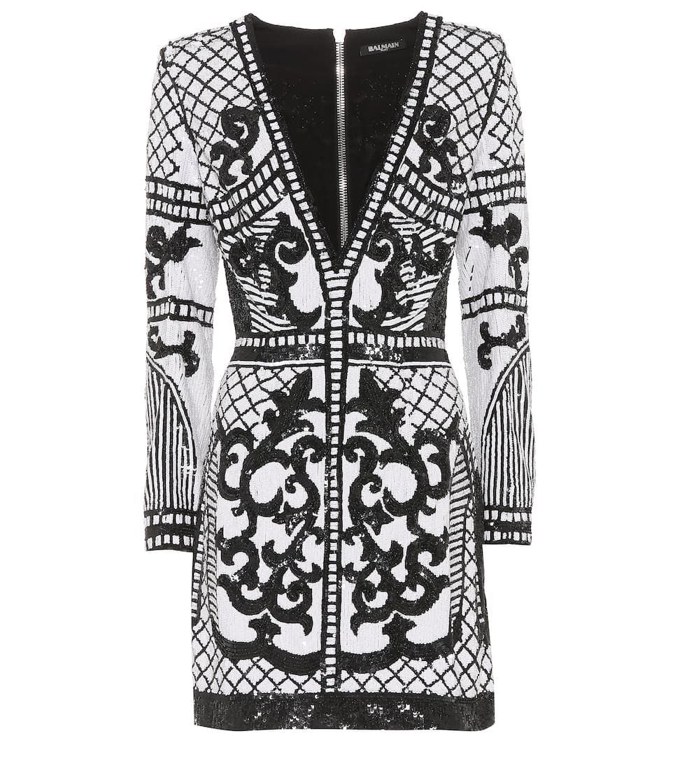 Balmain Studded Mini Dress