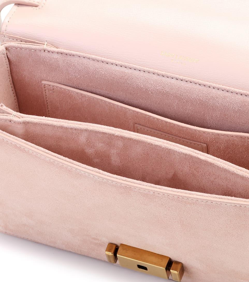 Saint Laurent Schultertasche Bellechasse aus Leder und Veloursleder