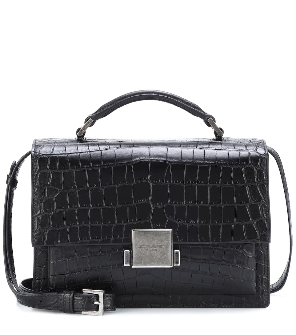 Medium Croc Embossed Bellechasse Shoulder Bag