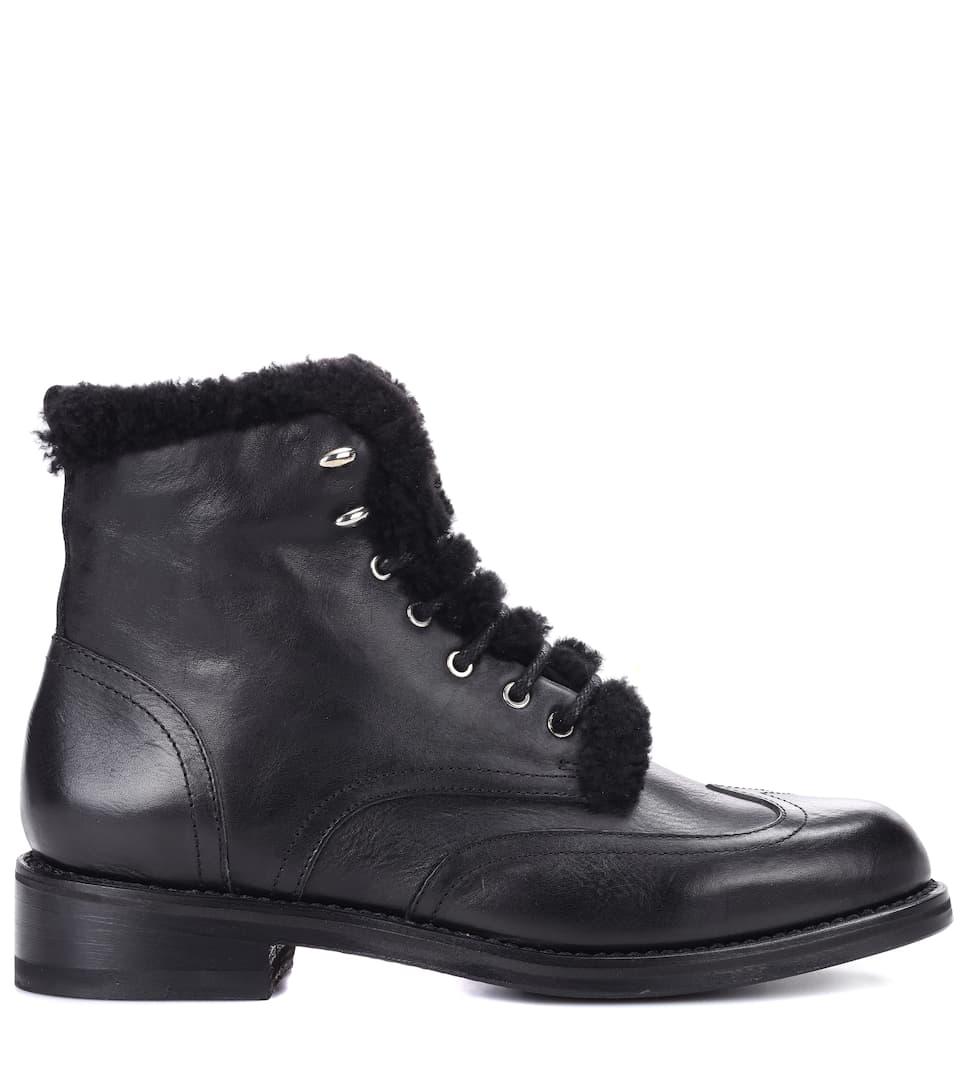 Rag & Bone Ankle Boots Cozen aus Leder und Shearling