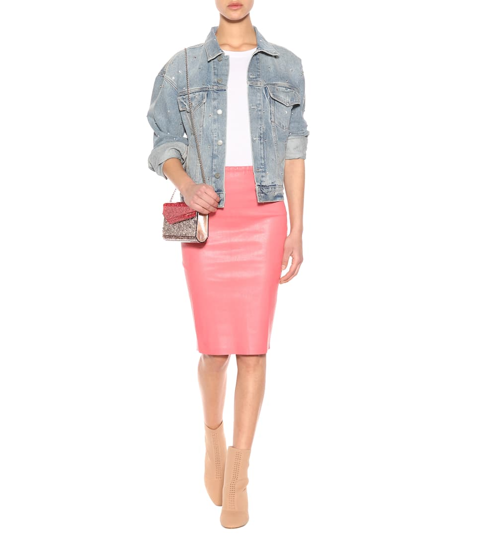 Fashionable Fast Delivery Sale Online Stouls Gilda leather pencil skirt Bubble 100% Guaranteed Clearance Deals With Mastercard Cheap Price FB6t6Kc181