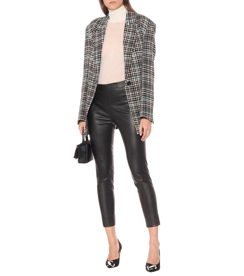 Dorothee de cuero puro Skinny pantalones negro Schumacher gwqrnpgUA6