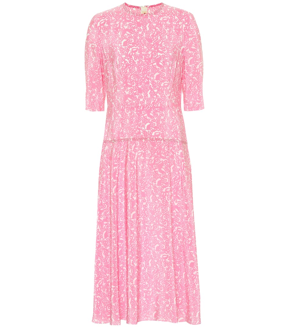 8212b775dca2 Marni - Floral silk midi dress | Mytheresa