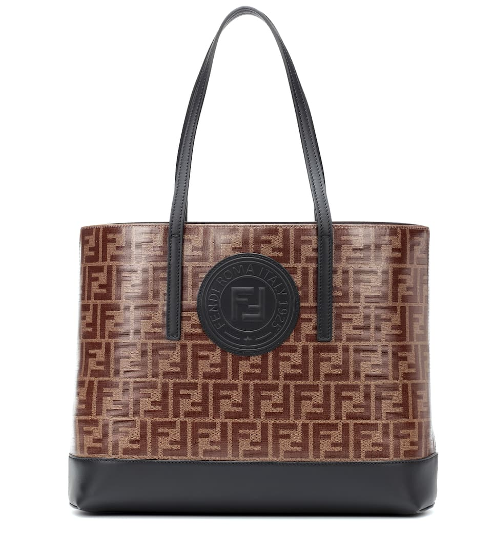 Leather Trimmed Tote by Fendi