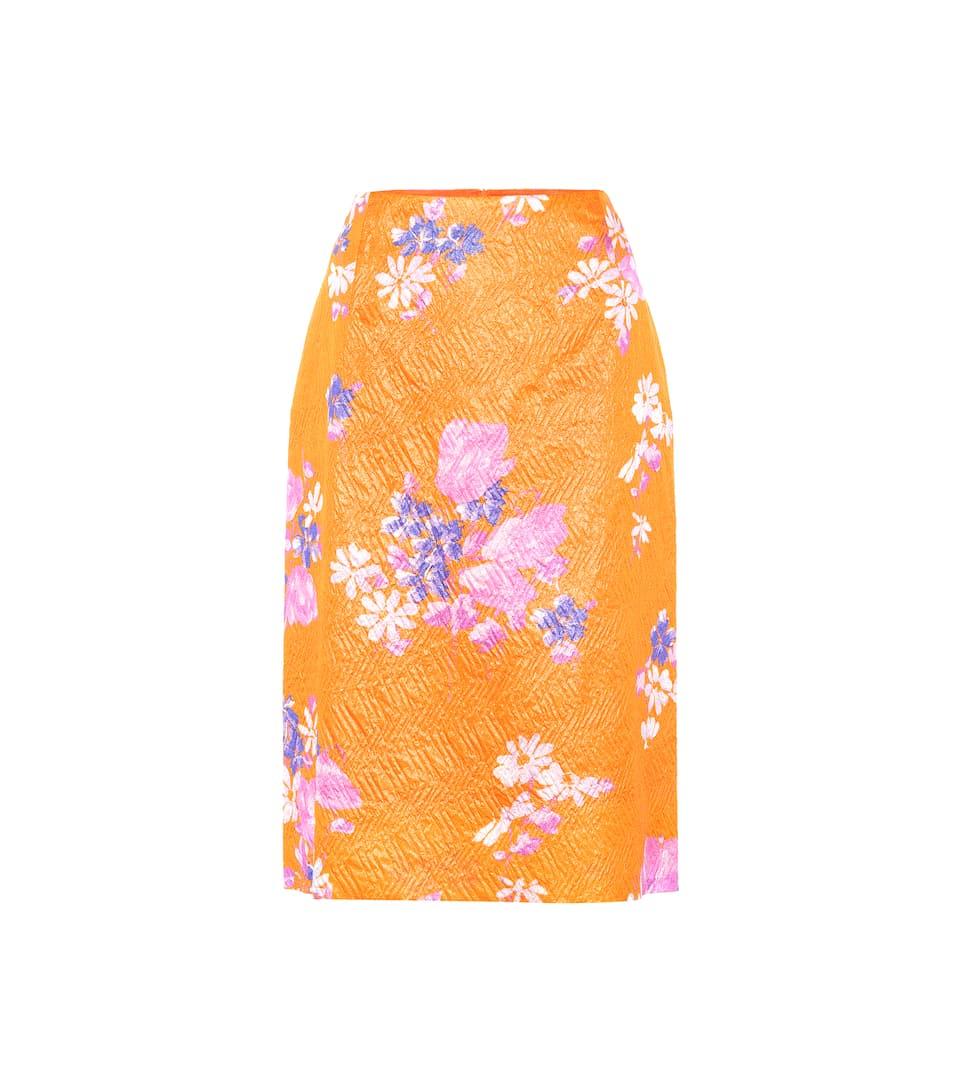 257037818991 Dries Van Noten - Floral silk-blend pencil skirt | Mytheresa