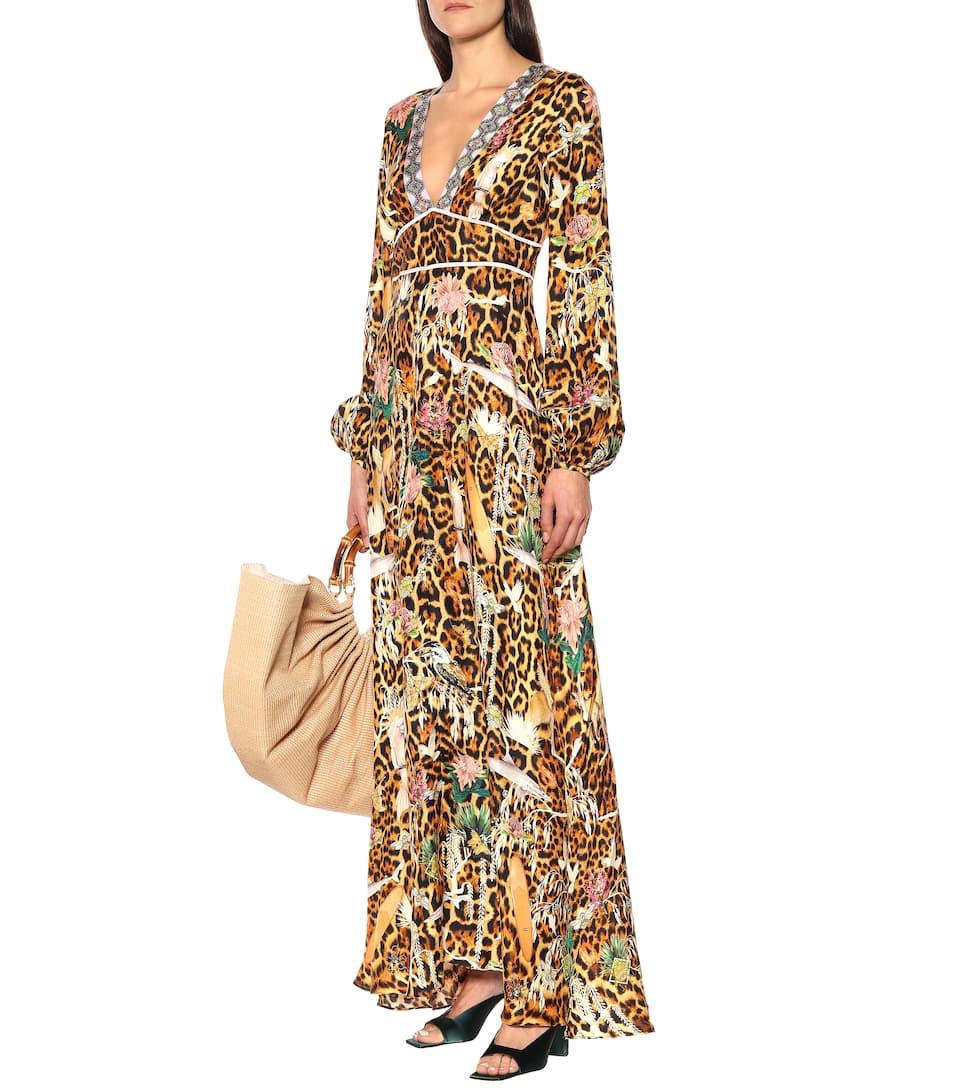 Camilla - Leopard-print silk maxi dress