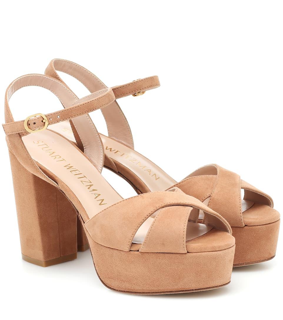 Ivona Suede Platform Sandals | Stuart