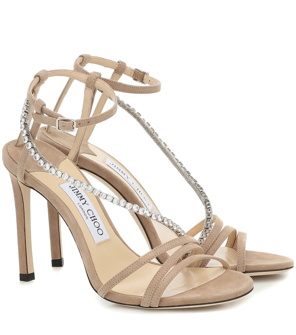 Thaia 100 Suede Sandals | Jimmy Choo