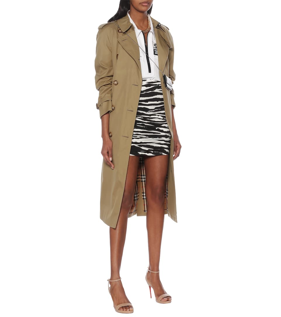 Burberry - Zebra-print stretch-cotton skirt