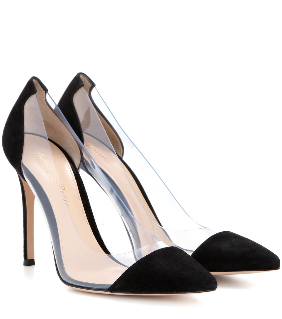 Gianvito Rossi Plexi suede and transparent pumps Black+Transparent Shop For Shop Your Own Cheap Low Shipping OCxSK2W