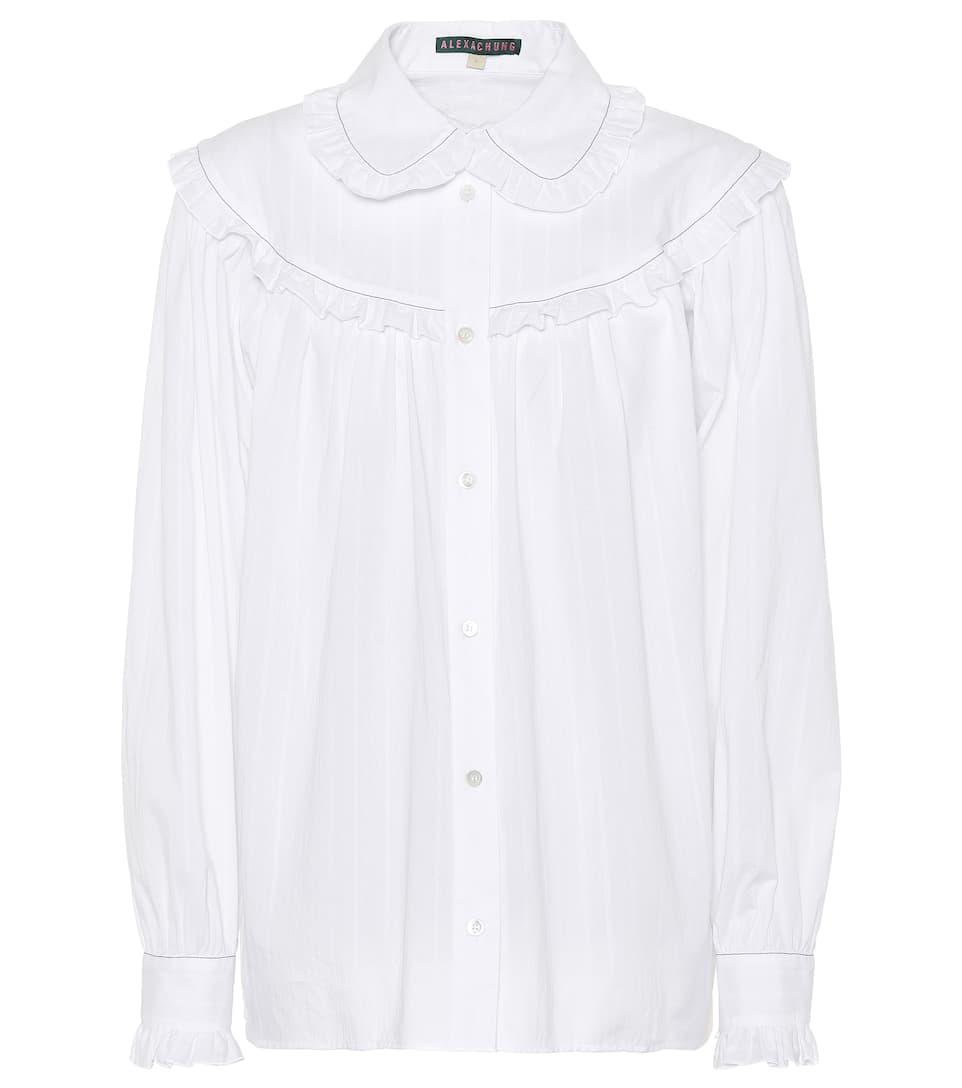 AlexaChung Bluse aus Baumwolle Bester Ort Rabatt Fabrikverkauf Nqqt1D