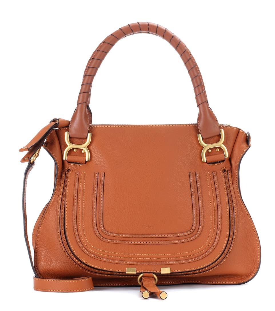 Chloé Marcie Medium Leather Tote In Brown