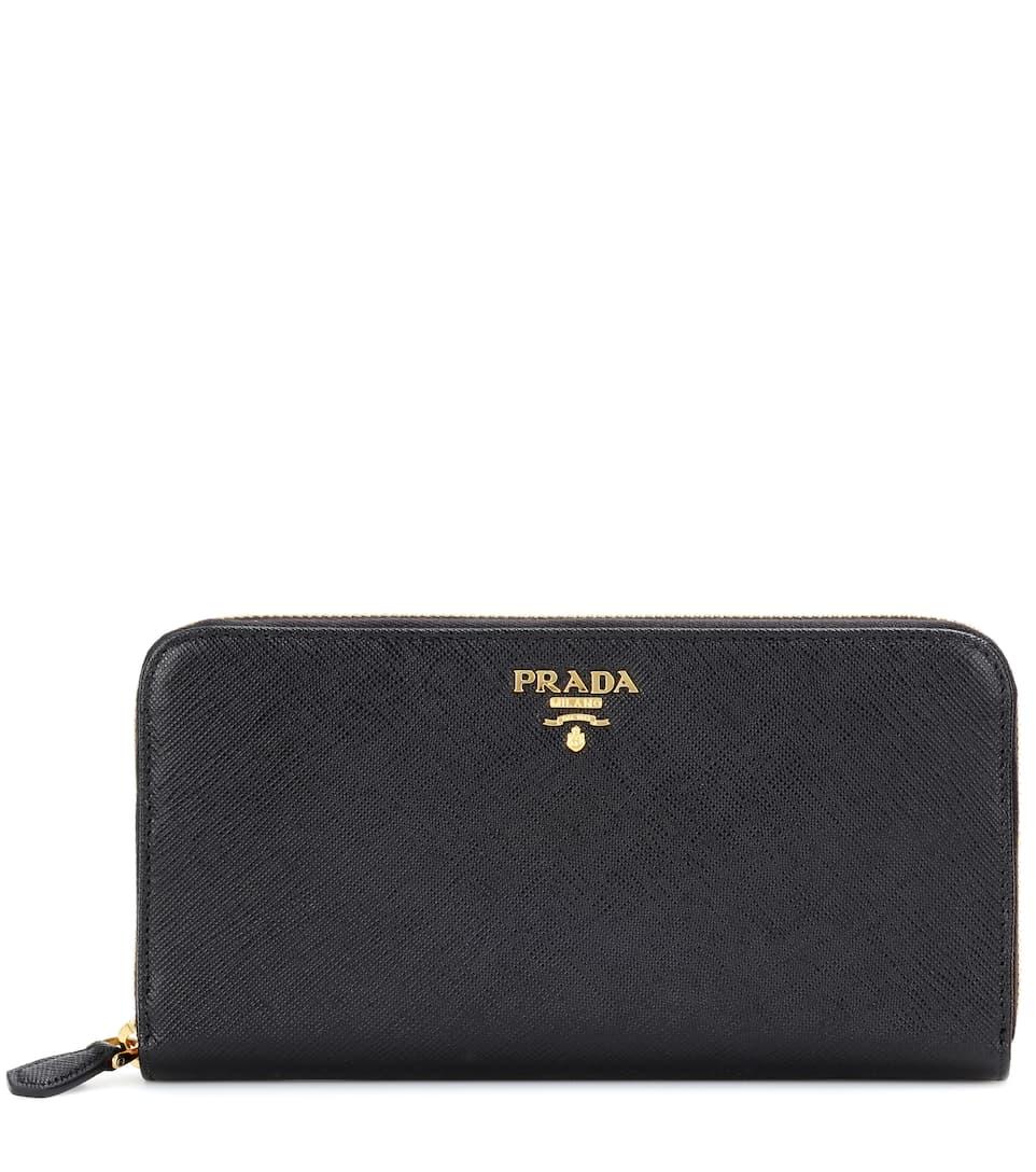 7ca05f6c7d17 Saffiano Leather Zip-Around Wallet - Prada | mytheresa.com