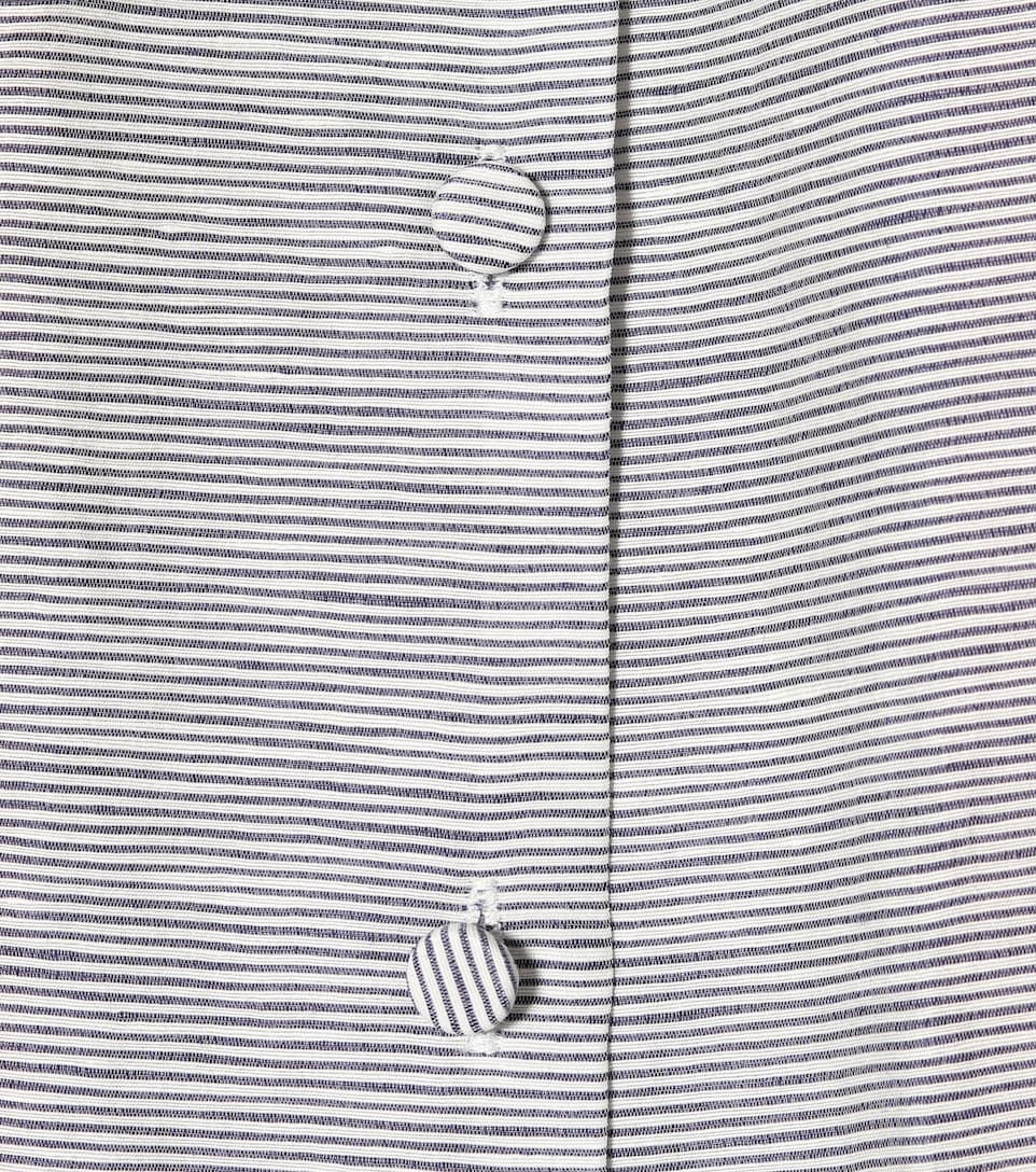 Striped cuello Co blanco blusa azul de alto 4qUxwdUO