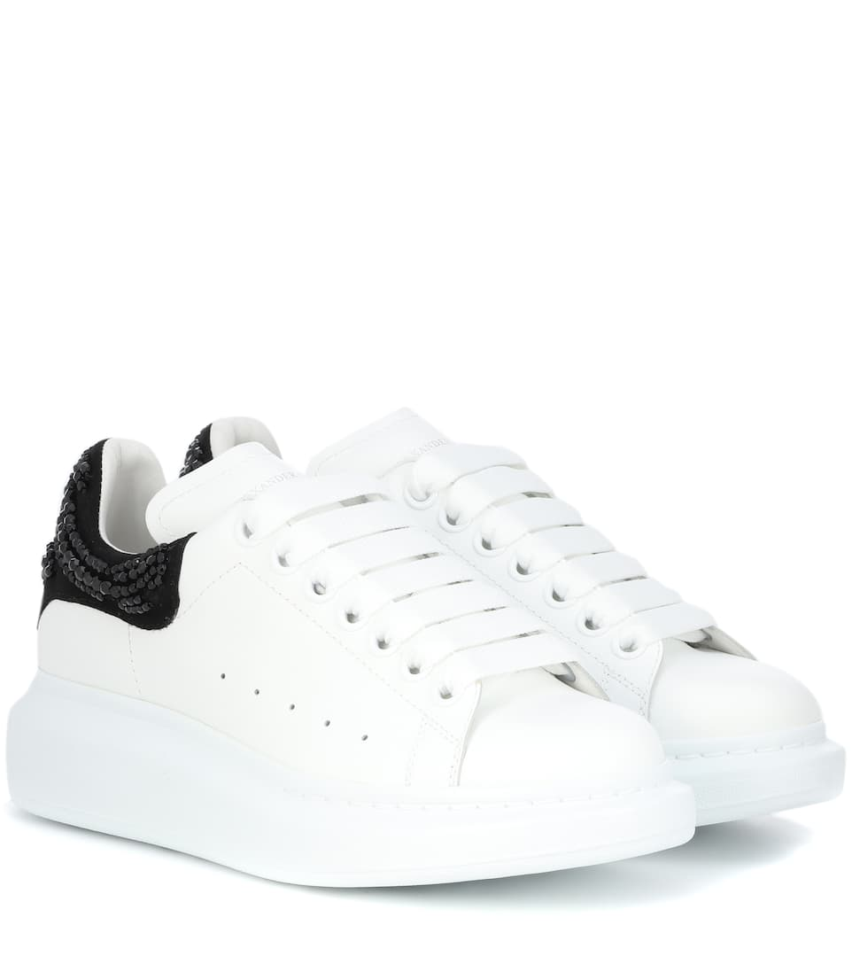 Embellished Leather Sneakers by Alexander Mc Queen