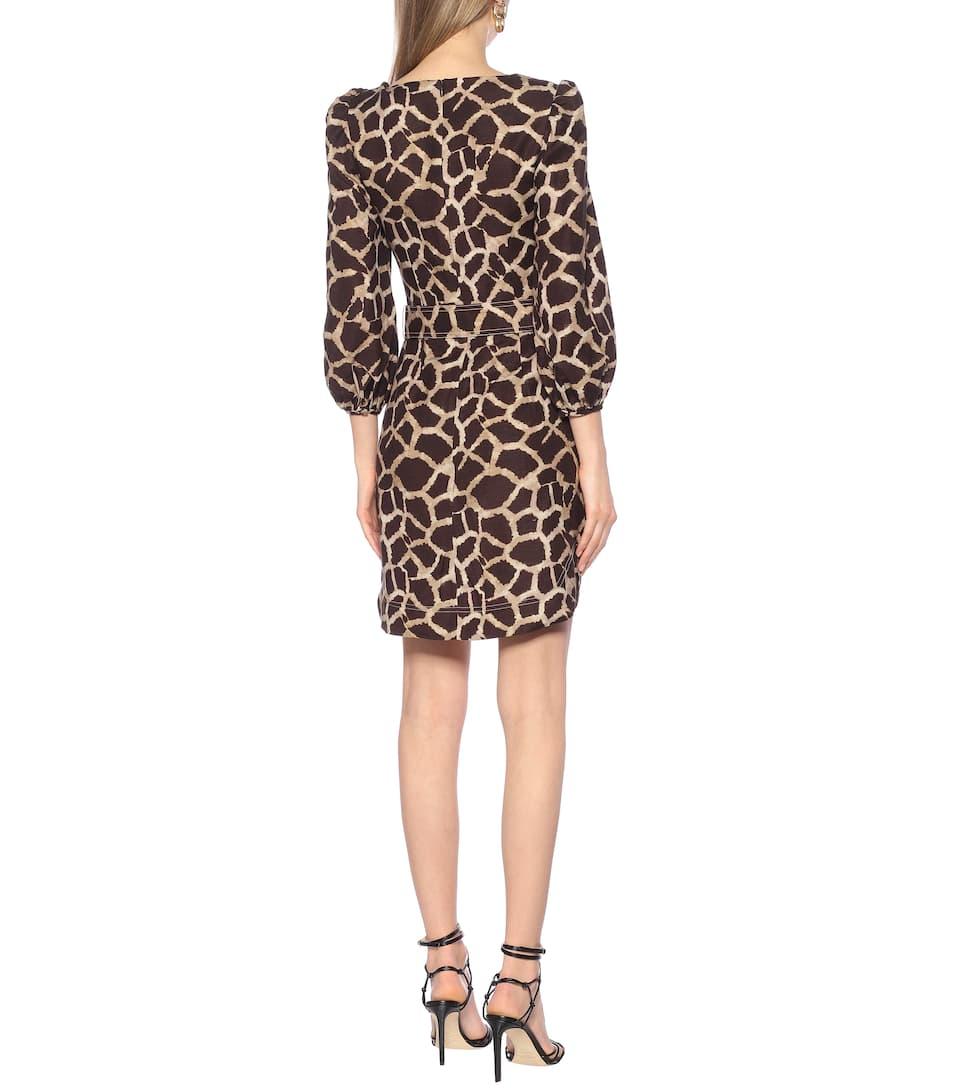 Rebecca Vallance - Acacia linen-blend minidress
