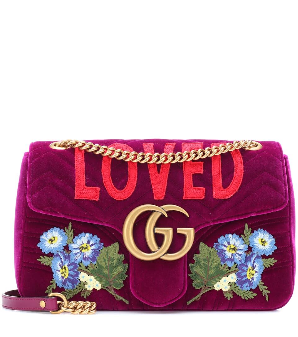 f2e89e1f6e Gg Marmont Medium Velvet Shoulder Bag - Gucci | mytheresa