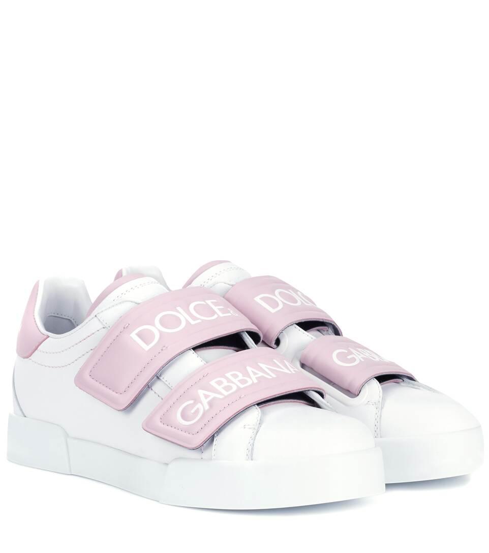Bestseller Verkauf Online Dolce & Gabbana Sneakers aus Leder mit Klettverschluss Neue Ankunft Online UAo4uLZkMO