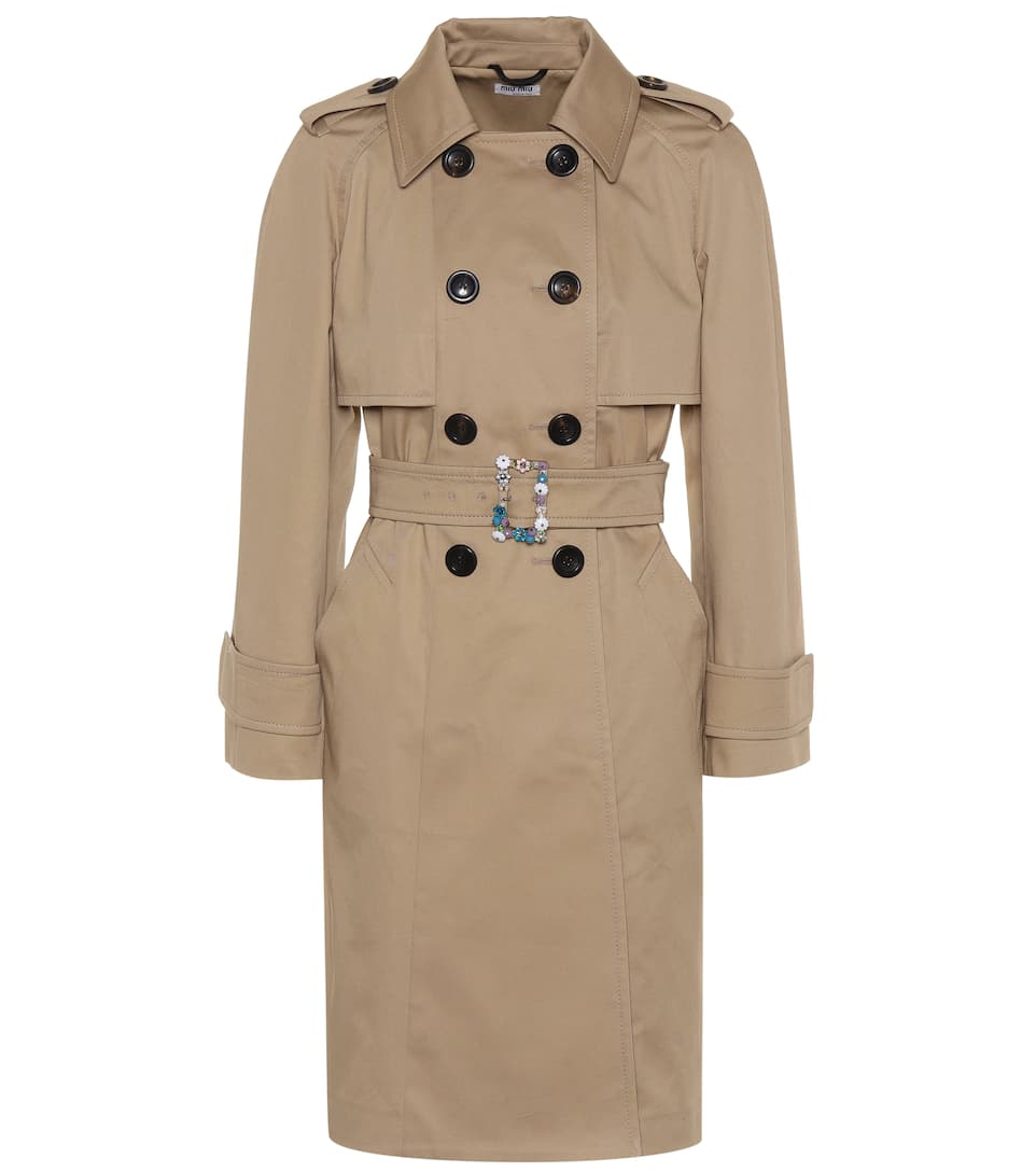 EMBELLISHED TRENCH COAT