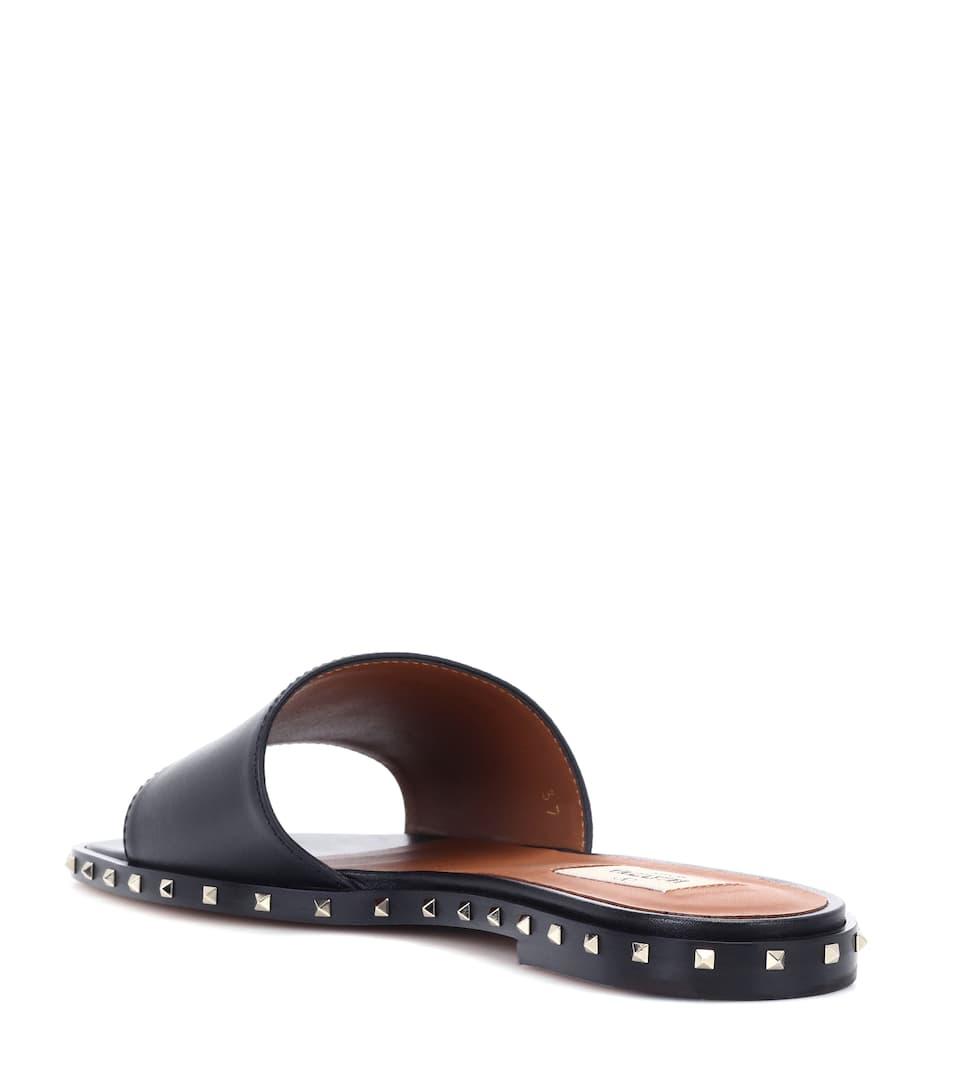06a989fb197c Valentino - Valentino Garavani Rockstud leather slides