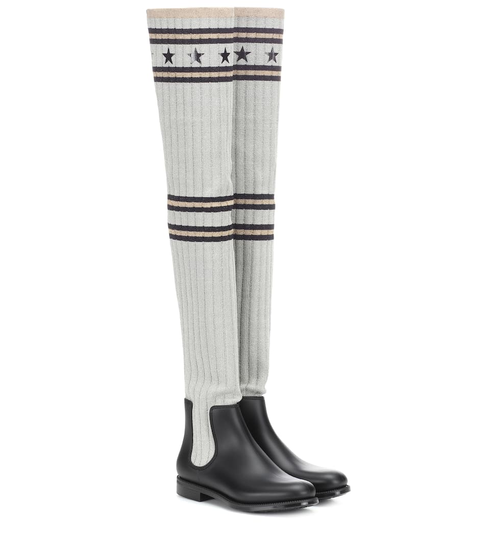 Over The Knee Stretch Knit Boots by Givenchy