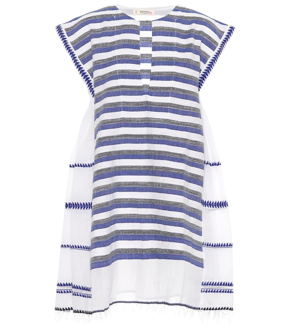 Lemlem Minikleid aus einem Baumwollgemisch