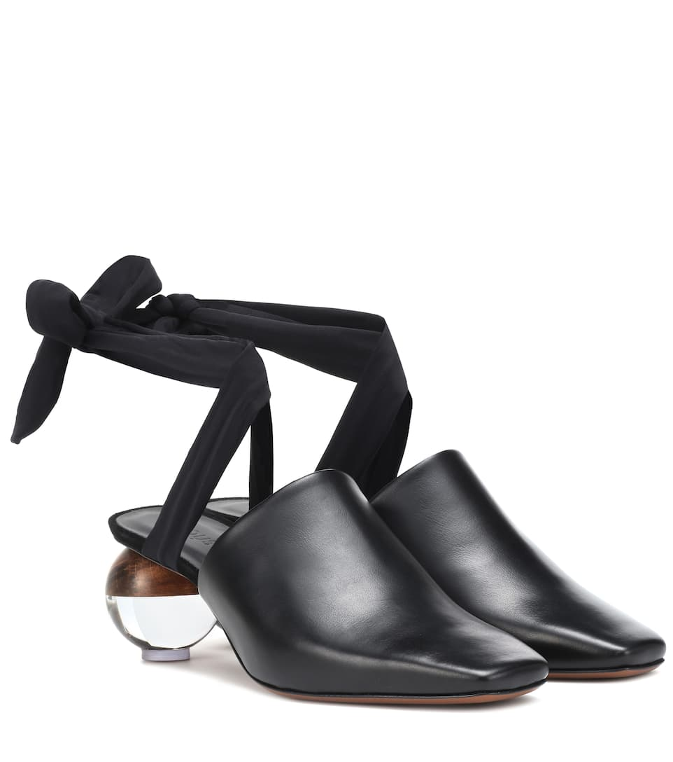 Brough Leather Mules by Neous