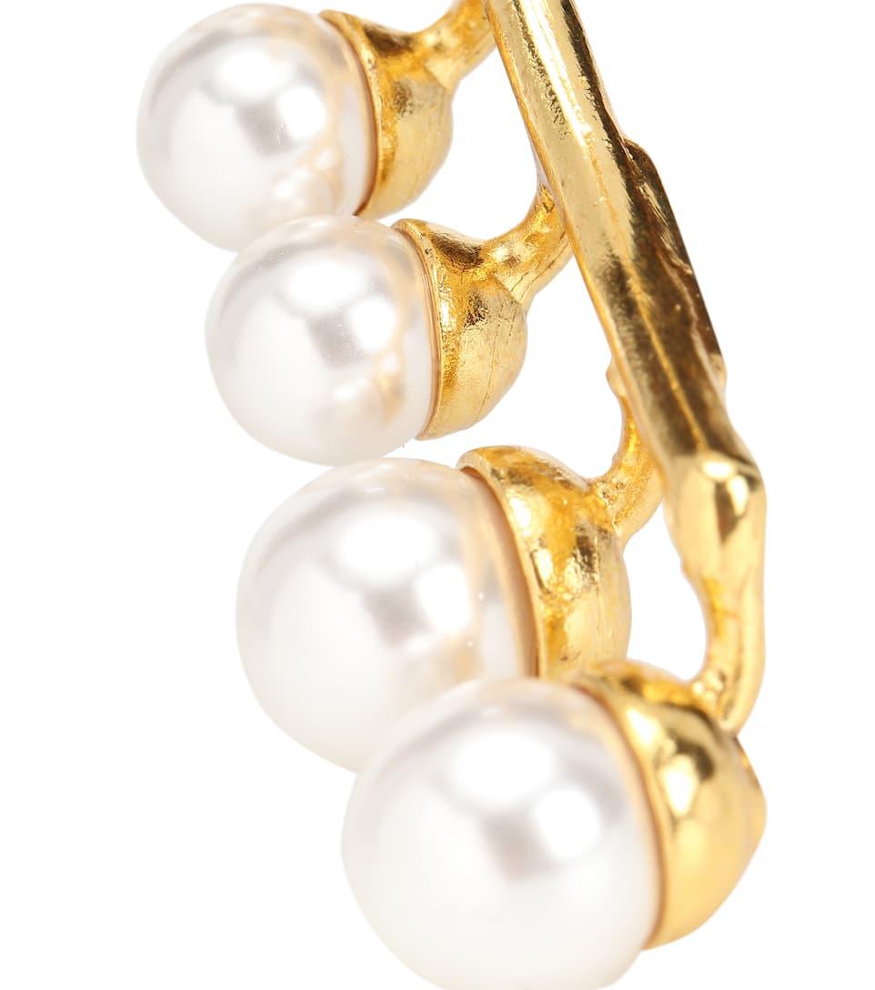 Boucles D'oreilles À Cristaux Et Perles Rabais De Nombreux Types De yjvzo8