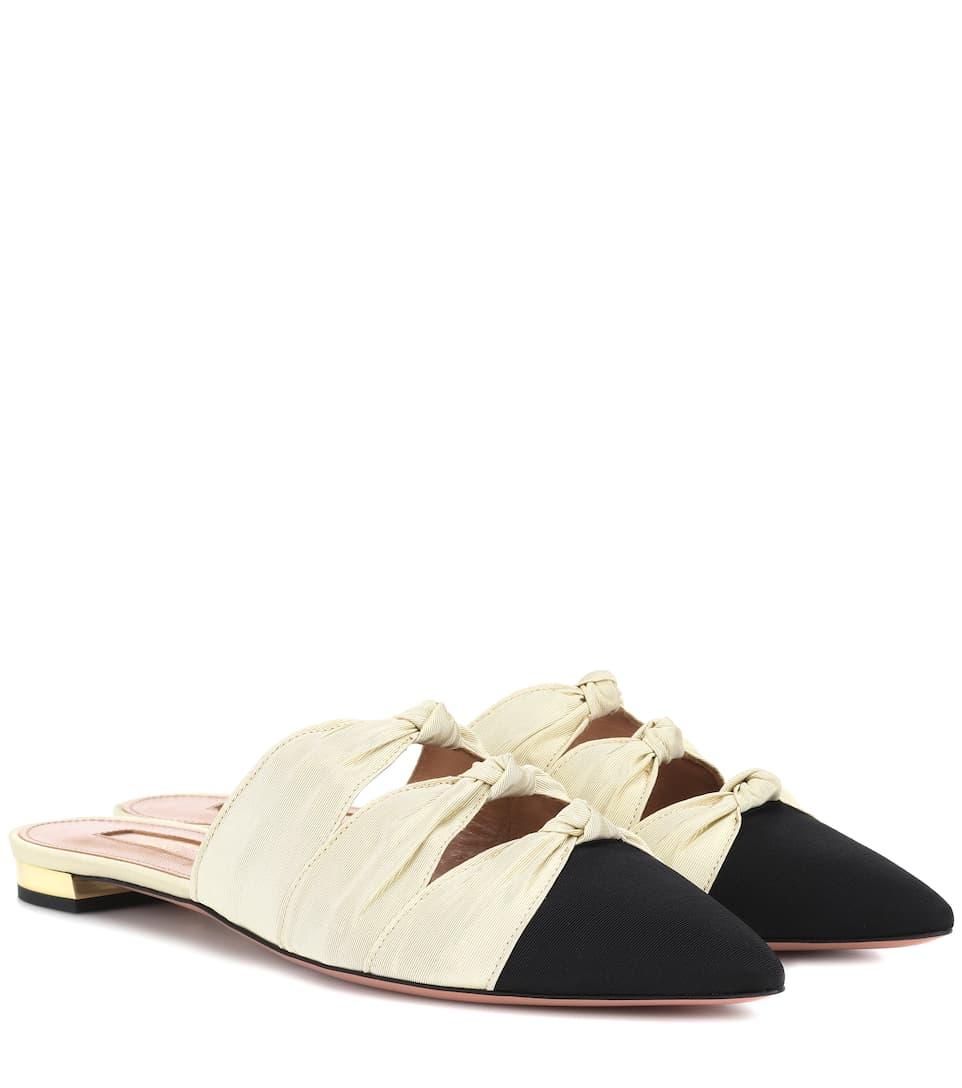 Aquazzura Shoes Mondaine grosgrain slippers