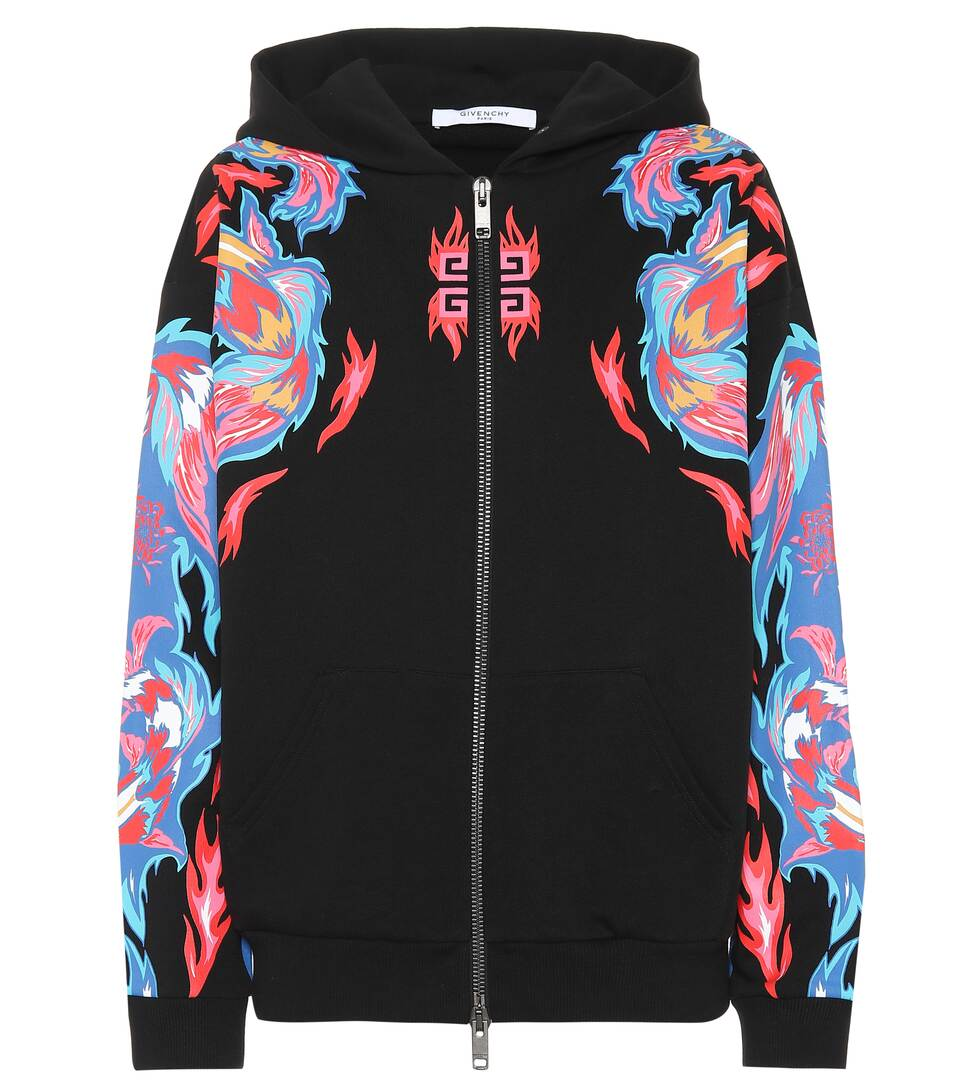 203a9d85188 Givenchy - Dragon-printed cotton hoodie