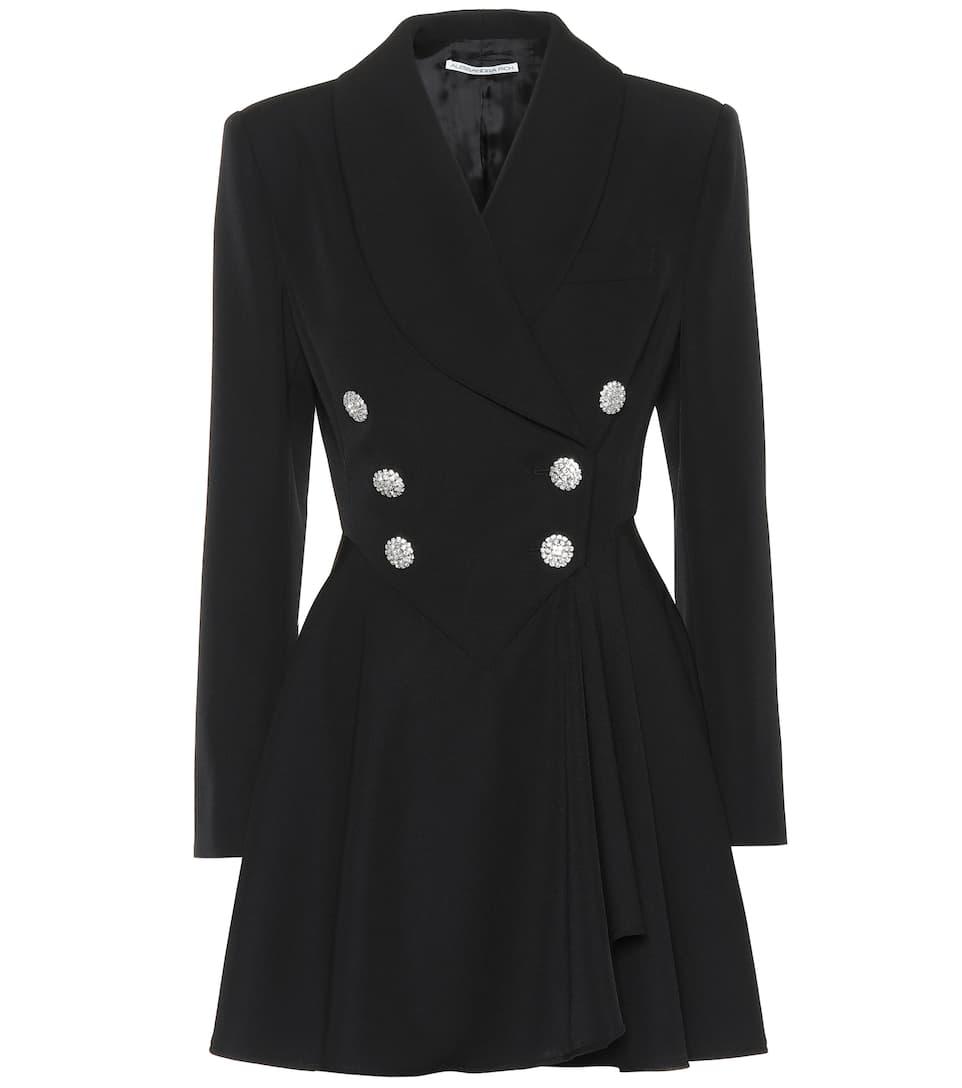 Virgin-wool twill blazer dress