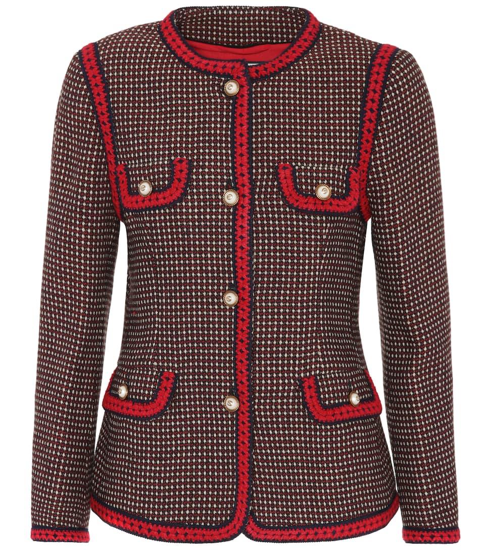Billige Neuesten Kollektionen Billig Verkauf Mit Paypal Gucci Embroidered wool jacket Verkauf Limitierter Auflage fGy14O