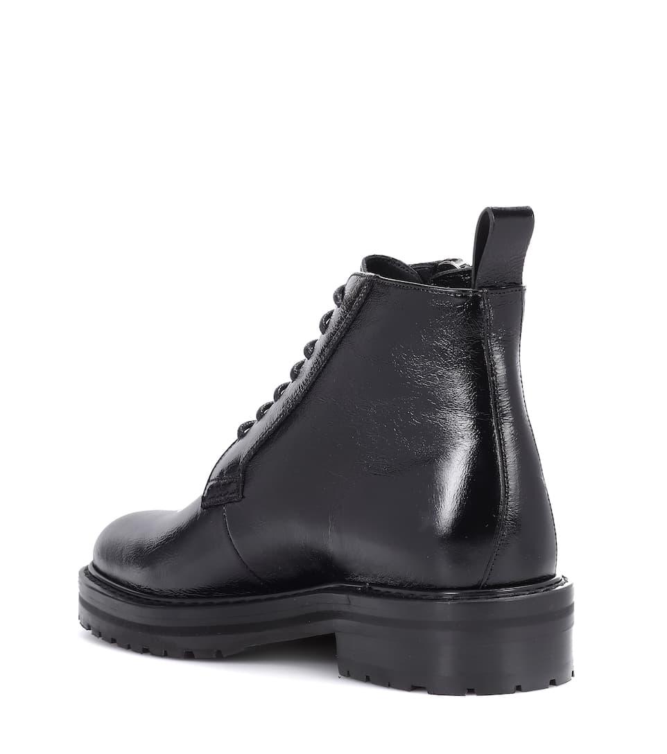 Saint Laurent Ankle Boots William 25 aus Leder