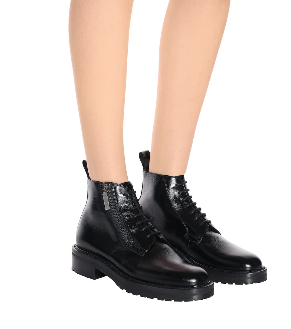 Saint Laurent Ankle Boots William 25 aus Leder