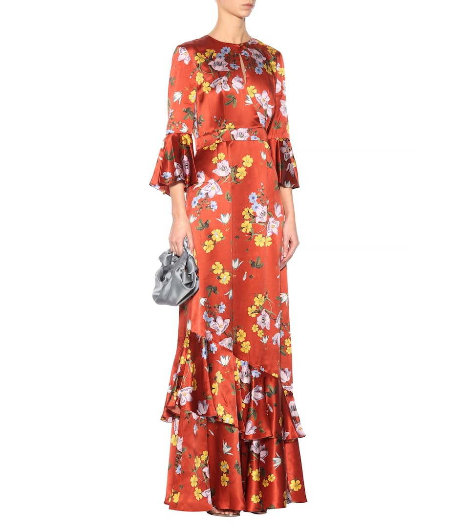 Erdem Bedruckte Robe Venice aus Seide
