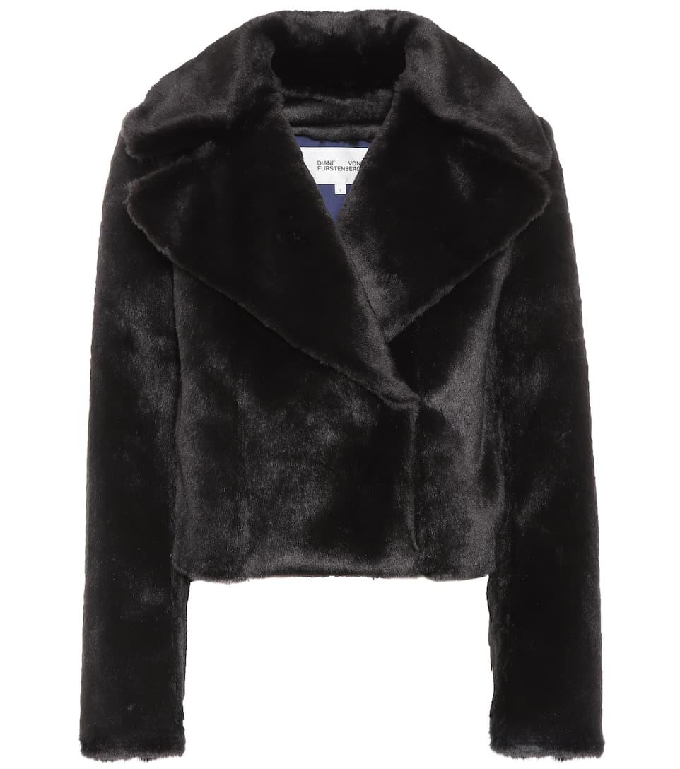 Diane Von Furstenberg Jacket Made Of Faux Fur