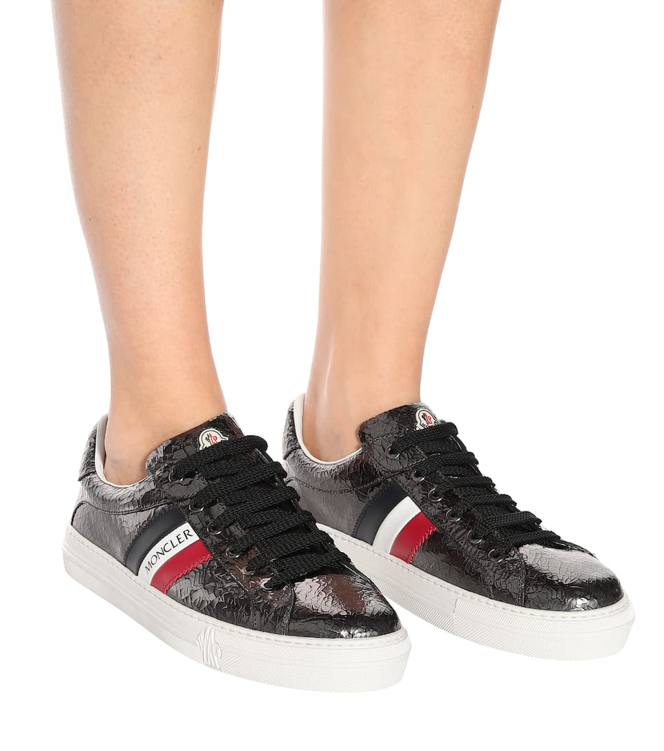Ariel Cracked Patent Leather Sneakers