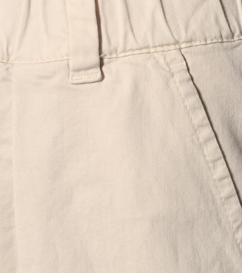 Brunello Cucinelli - High-rise cotton skinny pants