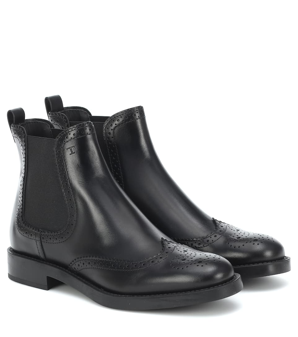 Tod's - Leather ankle boots | Mytheresa