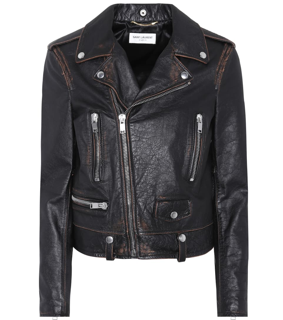 Saint Laurent Lederjacke Moto