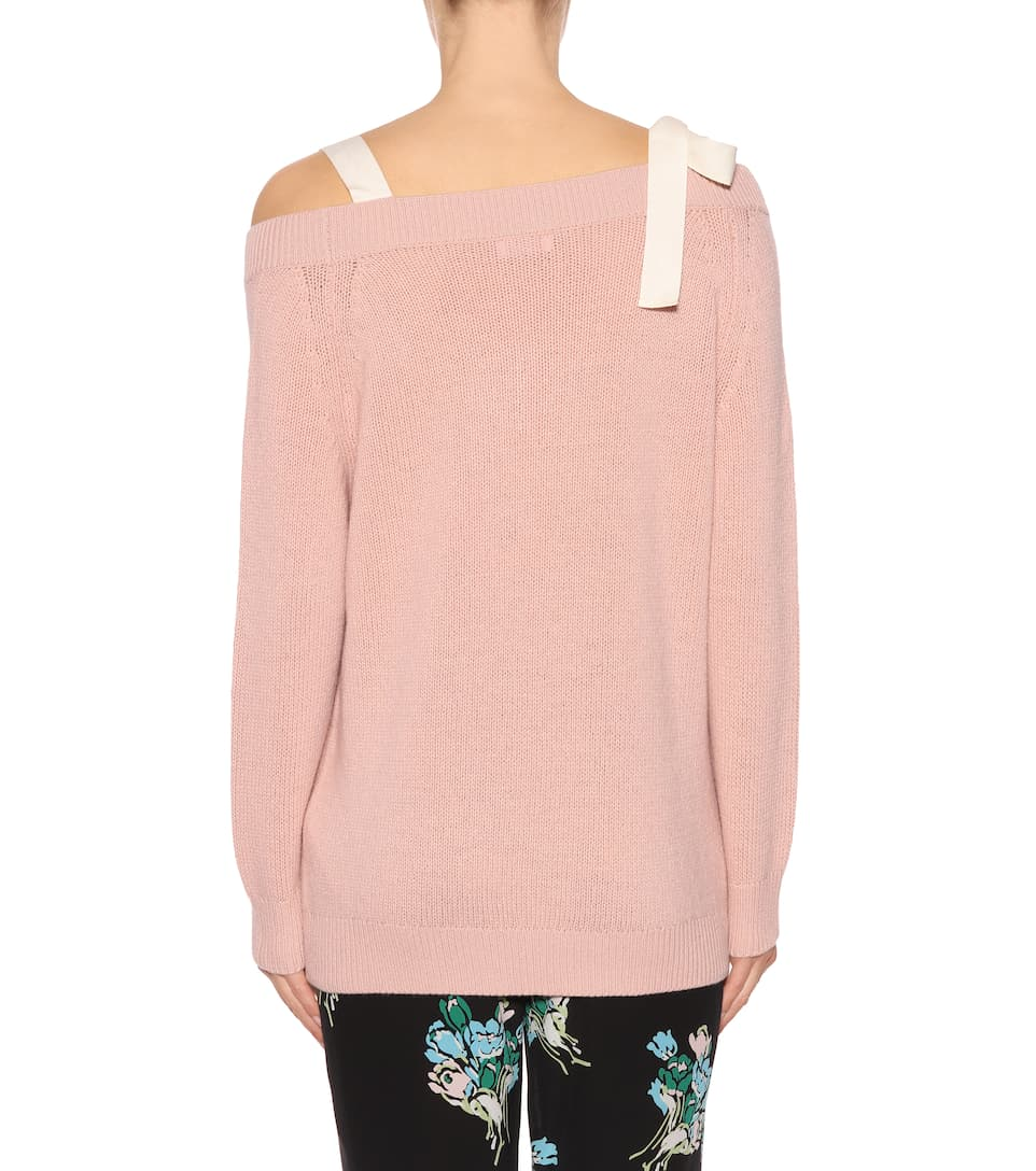 REDValentino Off-Shoulder-Pullover aus Wolle