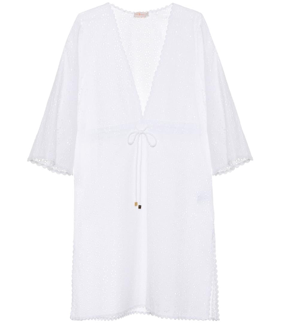 Tory Burch Kleid mit Lochstickerei aus Baumwolle