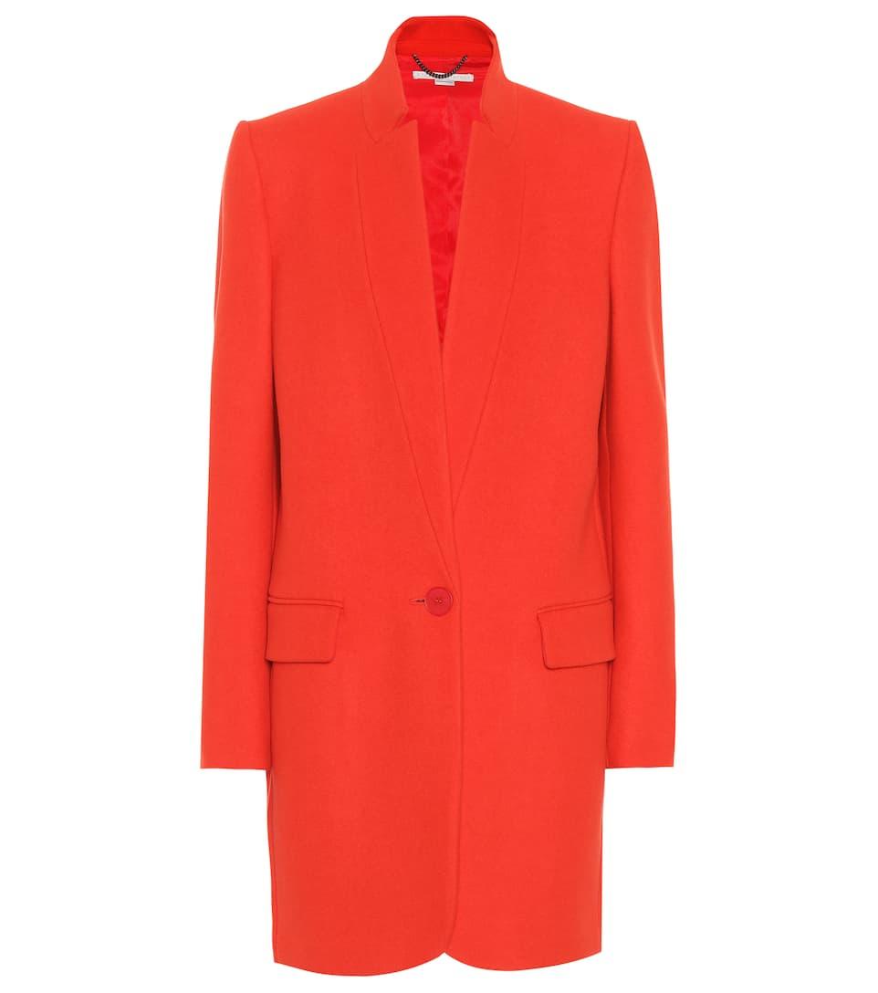 Bryce Wool-Blend Coat, Red