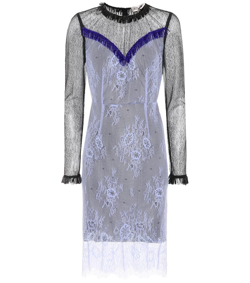 Diane von Furstenberg Kleid aus Spitze mit Verzierung